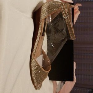 Silver and gold sparkle shoes